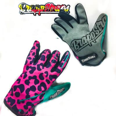 Neon Leopard MX gloves