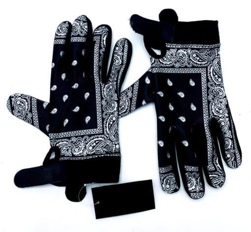 Black Bandana Chain Gang MX Gloves by Brapp Straps